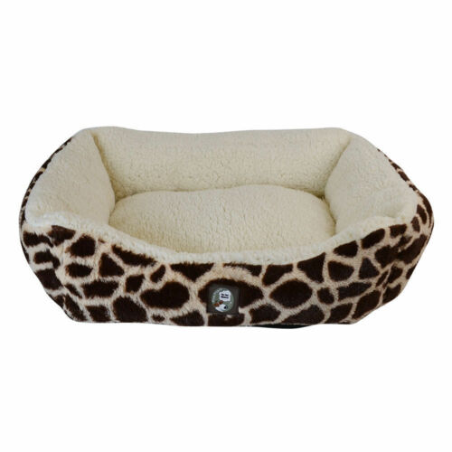 Soft Plush Faux Fur CUSHION ANimal Print Pet Bed Dog Cat Pet Bedding
