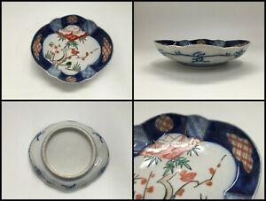 Japanese Porcelain Dish Plate Vintage Old Imari Ware Hand Paint Pine Plum F058