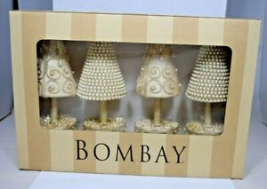 Bombay-White-Top-Tree-S-4-Placecard-Holder-1120798-4-pack-Christmas-Holiday