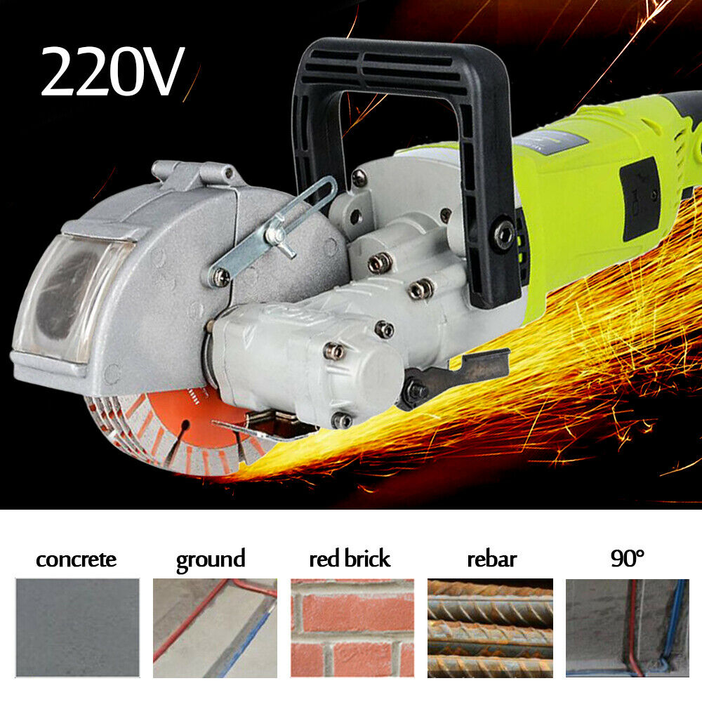 4KW 220V Electric Wall Groove Cutting Machine Wall Slotting Chaser Tool 33MM US