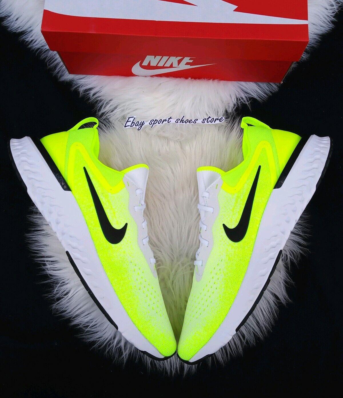 6 Nike odiyssey REACT blancoo neón verde ao9820 103 corriendo