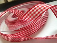 4M BERISFORDS BEST QUALITY GINGHAM RIBBON FOR SEWING CRAFTS AND HAIR ACCESSORIES