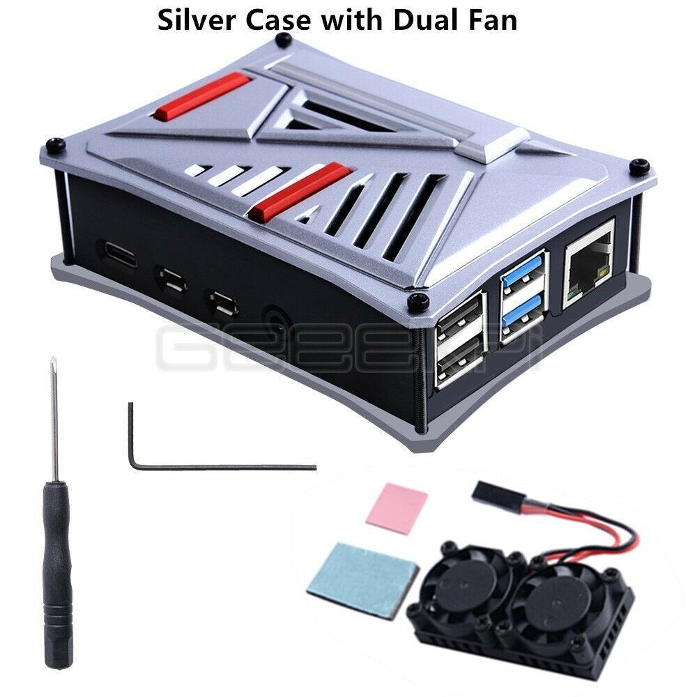 Silver Case with Dual Fan