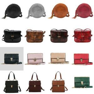 Women-039-s-Shoulder-Bags-Crossbody-Messenger-PU-Leather-Handbags-Satchel-Purse-Tote