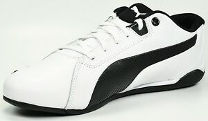 NEW MENS PUMA RACING CAT L WHITE LEATHER SIZES 4.5 to 8 ... f9a39b2d69