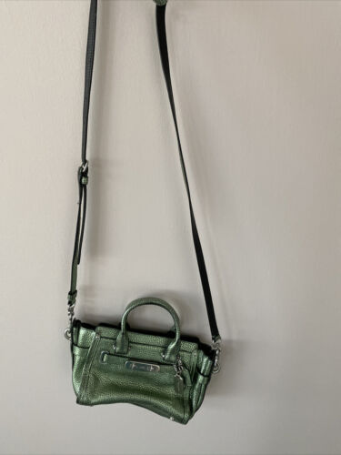 Authentic Coach Leather Crossbody Green Bag