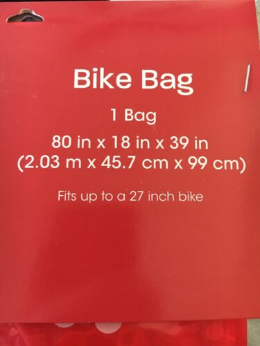 "New Wondershop Large Bike Gift Bag Red Snowflakes 80/""x18/""x39/"" Christmas Holiday"