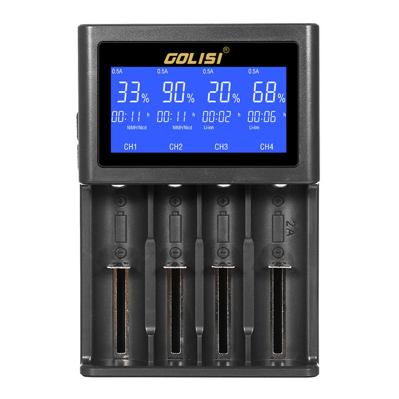 Golisi S4 HD LCD Display Smart Charger  For Li-ion Battery Nor -cd Or-md AAA AA  most preferential