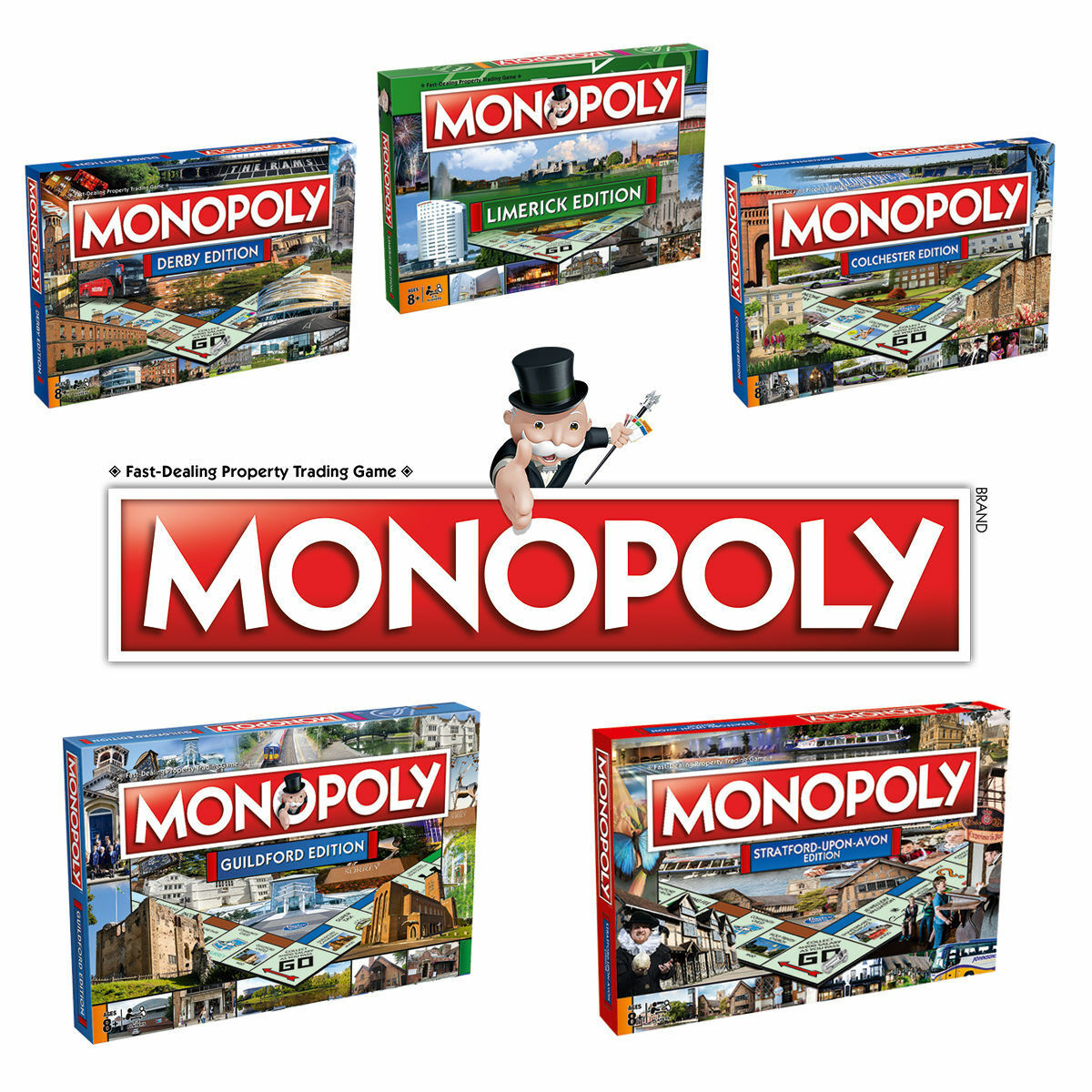 Monopoly Regional Edition Board Game 27 Options To Choose  Winchester & more