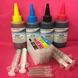 4x-Refillable-Cartridges-400ml-INK-For-Epson-Expression-Home-XP30-XP102-XP202