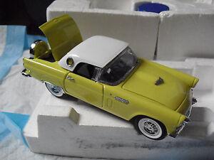 RARE Franklin Mint 1/24 1956 LE Yellow Ford Thunderbird Sample Car MIB LOOK