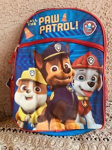 NWT-Paw-Patrol-16-034-Large-Backpack-With-Lunch-Bag-Case-Water-Bottle-5-Piece-Set