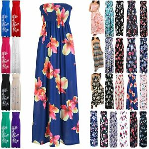 682fb8f0fc Image is loading Womens-Ladies-Sheering-Sleeveless-Boobtube-Bandeau-Floral -Ruched-