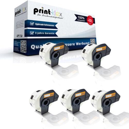 5x Kompatible Etiketten Rollen für Brother DK11221 Weiße Rolle-Drucker Pro Serie