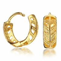 Jewelry Yellow Gold Filled Huggie Small Hoop Crystals Earrings 186-75 Uk