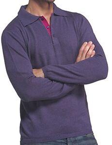 a 100 lunghe Xl Fuchsia maniche Cashmere da Balldiri Blackberry 2 uomo Polo veli qXPSwgdF