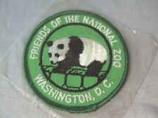 Friends of National Zoo Washington DC panda embroidered travel souvenir patch