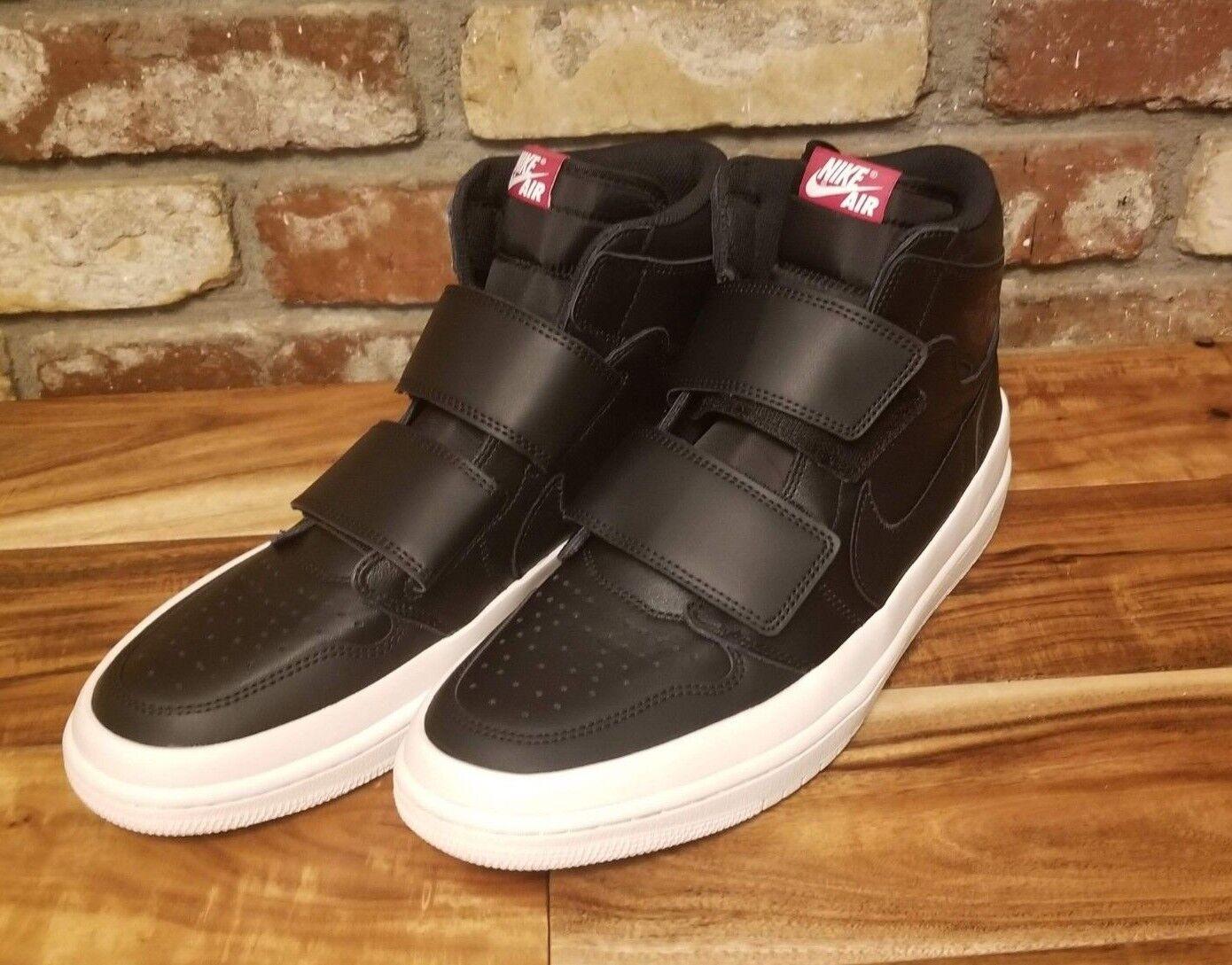 Nike Jordan 1 Retro High Double Strap DS Black Sail White Size 11.5