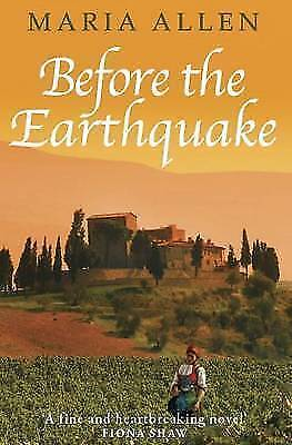 """AS NEW"" Before the Earthquake, Allen, Maria, Book"