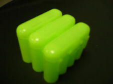 Universal Interlocking Battery Carrier Holder Case CR123A AA AAA - 3 PACK GREEN