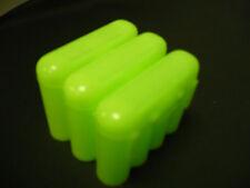Universal Interlocking Battery Carrier Holder Case CR123A AA AAA - 3 PACK GREEN