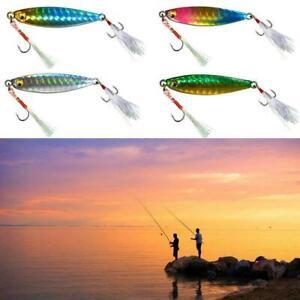 4pcs//set Micro Jigs Butterfly Metal Jig Fishing Lure Snapper Jigging Slow Lures