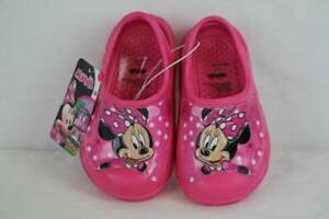 Minnie Mouse Toddler Girls Water Shoes Large 9 - 10 Pink Sandals Clogs Slip  On | eBay