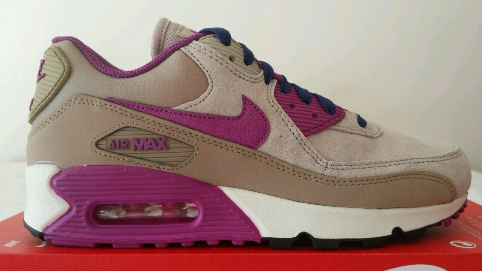 NIKE AIR MAX 90 WMNS ESSENTIAL BEIGE SCURO FUXIA N.40 LIMITED NEW PELLE OKKSPORT