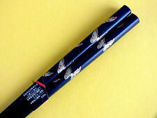 JAPANESE WOMEN GOLD BUTTERFLY BLACK CHOPSTICKS HAIR STICK CHINESE FANCY PARTY