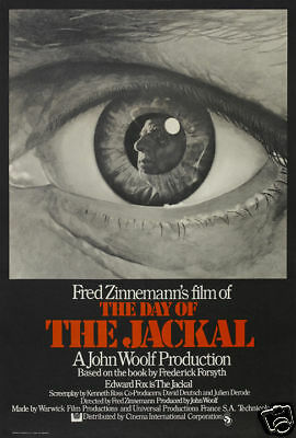 The day of the Jackal Fred Zinnemann movie poster print