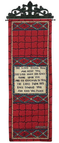 The Lord Bless You and Keep You Tapestry Wall Hanging Panel ~ Cindy Shamp