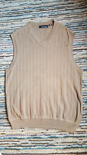 Men's Sweater Vest Pullover V-Neck Cotton Greg Norman Brown Size L India