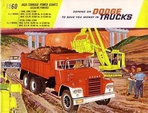 1960 Dodge Truck Heavy Duty Sales Brochure Literature Dealer Advertisement OEM