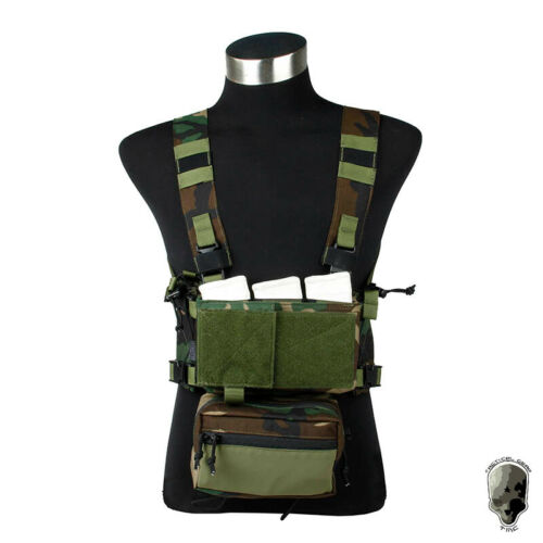 TMC Modular Lightweight Chest Rig Full Set Chassis w// 5.56 Mag Pouch Military