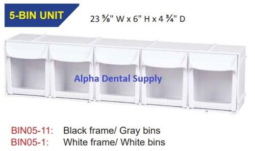 "Plasdent Dental Practice Enhancement Organizer 5-Bin Unit 24/""W x 6/""H x 5/""D"