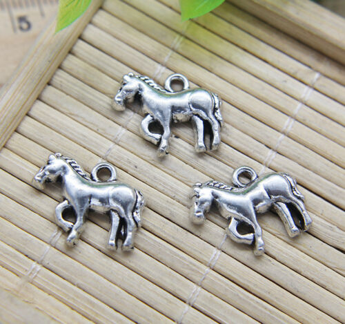 Wholesale Retro Horse Pony Alloy Charms Pendant Jewelry DIY 15*18mm
