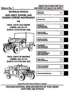 humvee tech manual unit maintenance 11 500 pages on flash drive m998 rh ebay com M1165 Technical Manual humvee repair manual