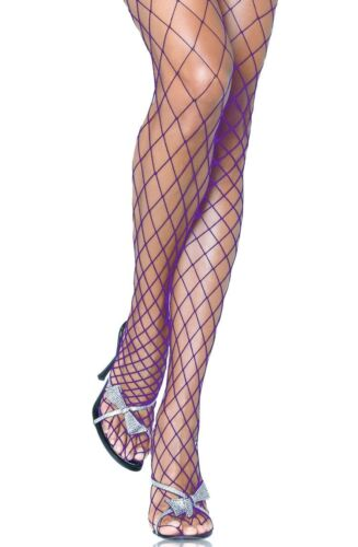 Fishnet Tights Black White Red Purple Fence Net Roller Derby Burlesque Punk Emo