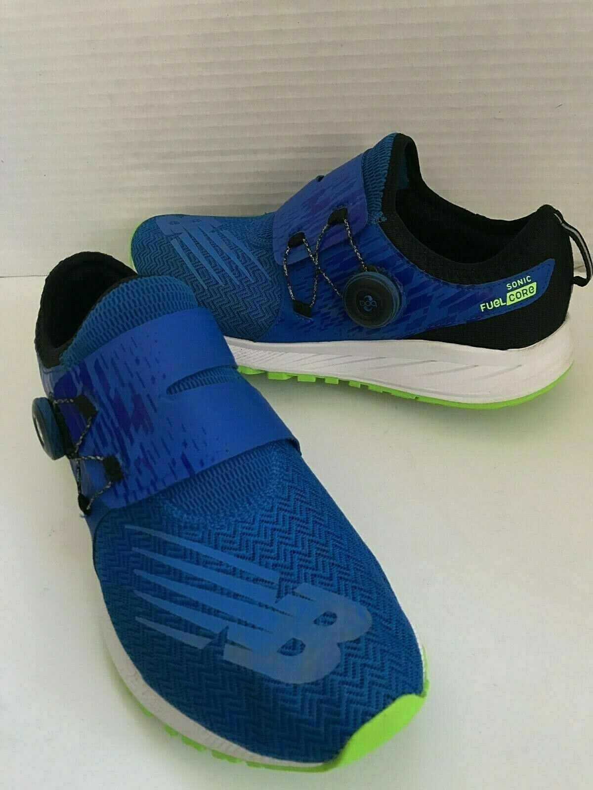 New Balance FuelCore Sonic Laceless BOA Running shoes bluee Green Mens Size 8.5 M