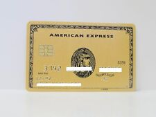 AMERICAN EXPRESS GOLD CARD AMEX WITH CHIP