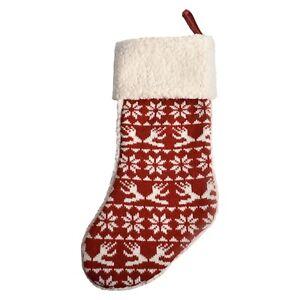 17f3477d Boots & Barkley PET DOG CAT Knit Christmas Stocking DARK RED/ WHITE ...