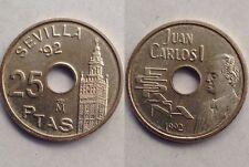 25 Pesetas 1992 Juan Carlos I Moneda Sin Circular S/C 5 Duros Del Rey La Giralda
