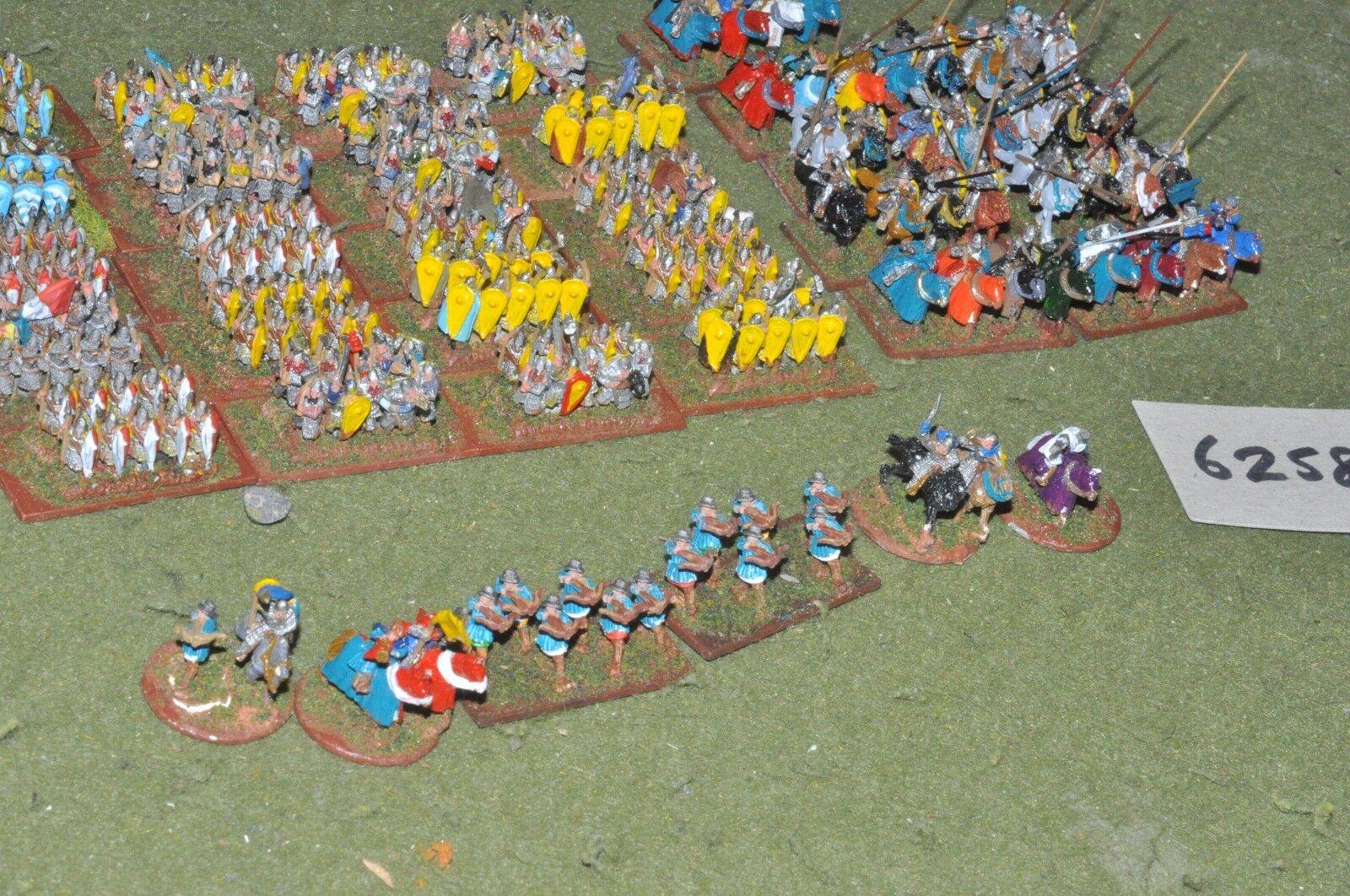 10mm temprana medieval Anglo-Norman Ejército 32 bases (6258) De Metal Pintado