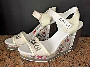 COACH-ADDISON-POPPY-GRAFITTI-WEDGE-SANDAL-PINK-HEARTS-SZ-6M