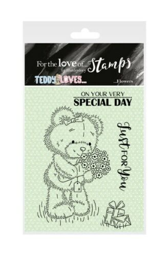 Hunkydory For the Love of Stamps Teddy Loves Sentiment A7 Clear Stamp Set