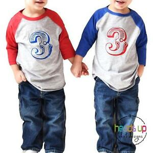 Image Is Loading Twin Boys Girls 3rd Birthday Shirts Circus Carnival
