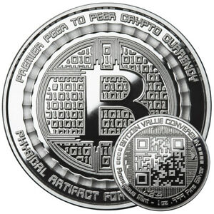 Details about BITCOIN VALUE CONVERSION 1 OZ  999 PURE SILVER PROOF ROUND  COIN ANONYMOUS MINT
