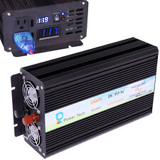 Power Inverter 1000W Pure Sine Wave Inverter 12V to 120V Off Grid LED Display