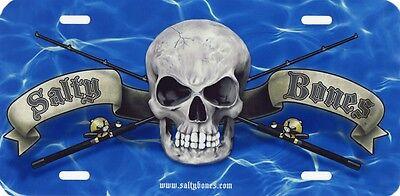 Fishing Poles Skull Salty Bones Decal Bumper Sticker Gifts Fishermen Fish 10-3//4