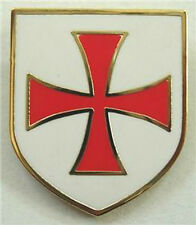 Crusaders Templar Knights Order Shield Cross Lapel Pin